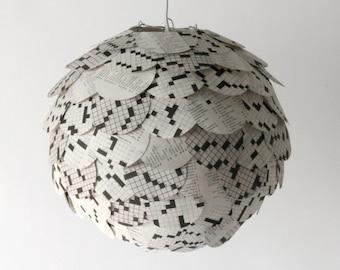 The Manhasset Crossword Pendant Light - Hanging Paper Artichoke Lantern - Shade Only