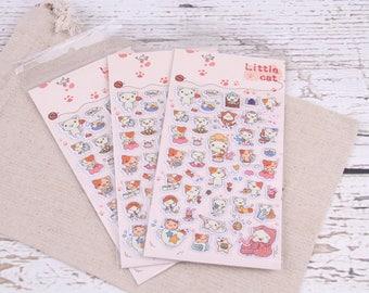Cute kitty puffy stickers