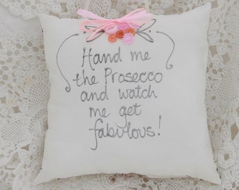 Prosecco Hanging Pillow
