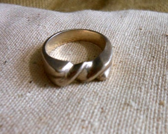 Twisted Sterling Ring Size 9