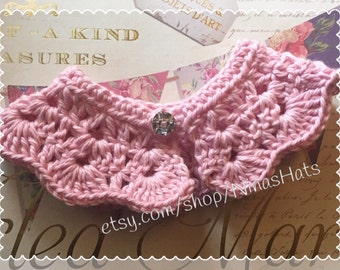 Crochet Puppy Collar / Dog Scarf / Dog Accesories  - Custom Made
