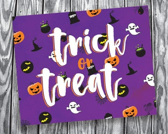 Trick or Treat – Digital File – 8x10 Landscape