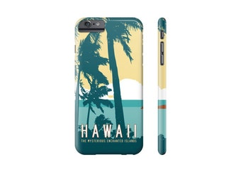 HAWAII iPhone Case, Tropical iPhone 8 Case, iPhone X Cover, Samsung Galaxy Case, iPhone 6 Plus, Tropical Phone Cover, Hawaiian Palm Trees.