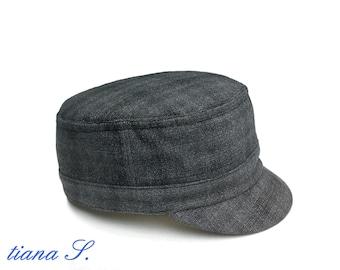 Cap Hat gray diamonds, Gr. 54