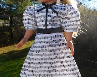Music Dress for 18 inch dolls