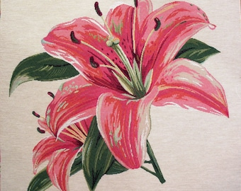 Fabric Panel tapestry LILIES coupon