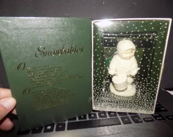 Vintage Department 56 Snowbabies Shall I Play For You Figure NEw in Box Perfect See Pic