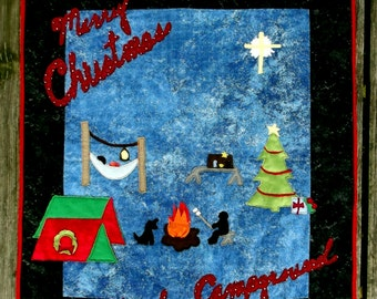 Christmas At the Campground Wall Hanging