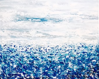 Coastal Art, Abstract Ocean Painting, Seascape Abstract, Modern Artwork, Coastal Decor, Modern Ocean Painting