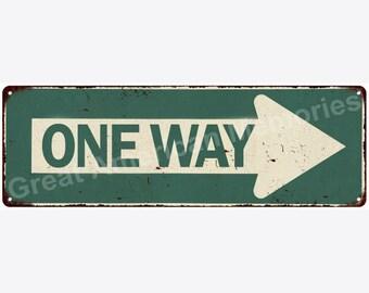 Detour Arrow Left Vintage Look Reproduction Metal Sign 6x18 6180484
