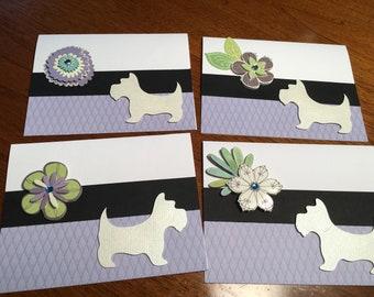 Westie cards - set of 4