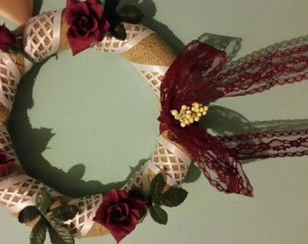 Lattice Rose Wreath