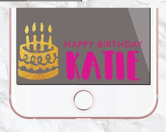 Personalized Birthday Snapchat Geofilter / Birthday Cake / Glitter Filter / Customized Snapchat Filter