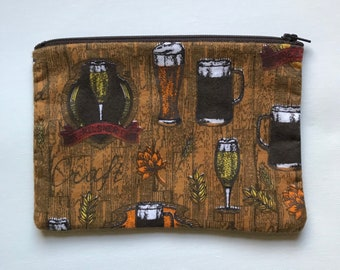 Craft Beer and Home Brew Zipper Pouch