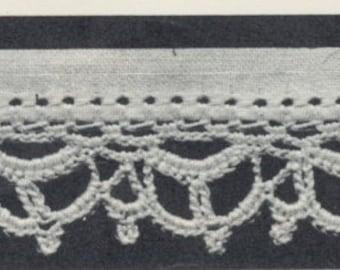 3 Vintage Crochet Patterns - Edges Trims for Doilies, Handkerchiefs, Cloths : Instant Download