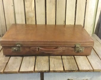 Vintage Leather Suitcase, Made in England
