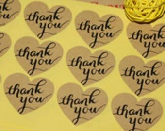 """120 Decorative Adhesive """"Thank You"""" stickers 1.5 inch-8061D"""