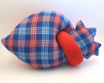Plush heart anatomical stuffed red heart toy