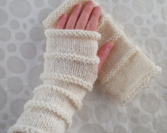 KNITTING PATTERN/ OSLO/ Fingerless Gloves for Men/Boys Quick Knit Gloves/Mens Glove Pattern/Mens Knitting Patterns/Simple ModernGloveEasy