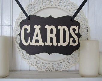 CARDS Banner, Wedding Sign, Cards Sign, Wedding Decoration, Party Decoration