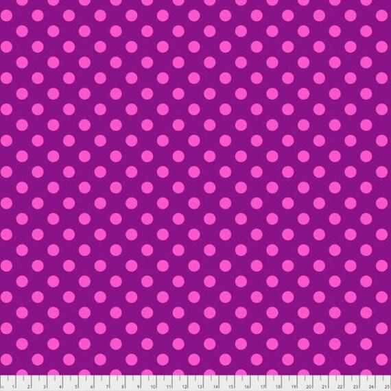 "FQ (18""x22"") POM POMS Foxglove Tula Pink Multiple units cut as one length"