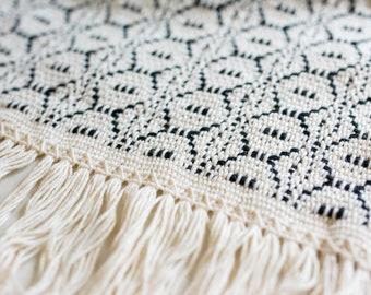 Kitchen rug - black and white - cotton rug - area rug - runner rug - bathroom rug - modern farmhouse decor - home decor