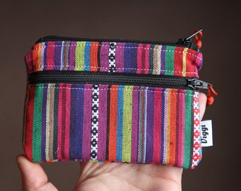 ethnic wallet womens / peru zipper wallet / peruvian wallet with pocket / travel coin purse