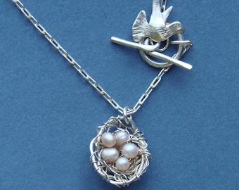 Bird in Flight Necklace,