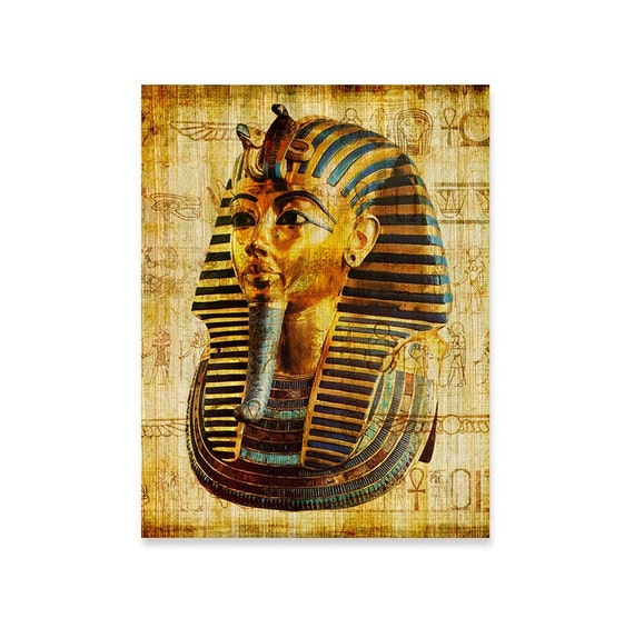 King Tut Art Print Tutankhamun Ancient Egypt Wall Art Old