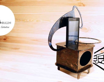 Acoustic Case for Iphone gramophone