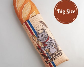 Big Baguette Cat Toys, Unique Cat Toys, Cat Gifts, Japanese Catnip Toys, Catnip Kick Stick, Cat Kicker Toys, Matatabi, Gifts for Cat Lovers