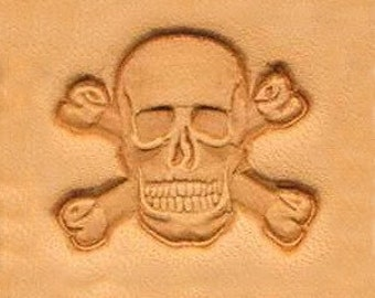 Skull & Cross Bones Leather Stamp Tool