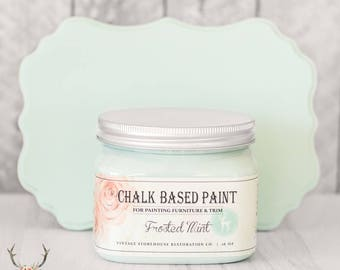 Vintage Storehouse Chalk Based Paint - Frosted Mint