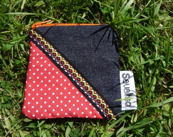 Small coin purse with red polka dots