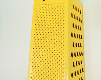 Sunny Yellow Vintage Metal Box Grater