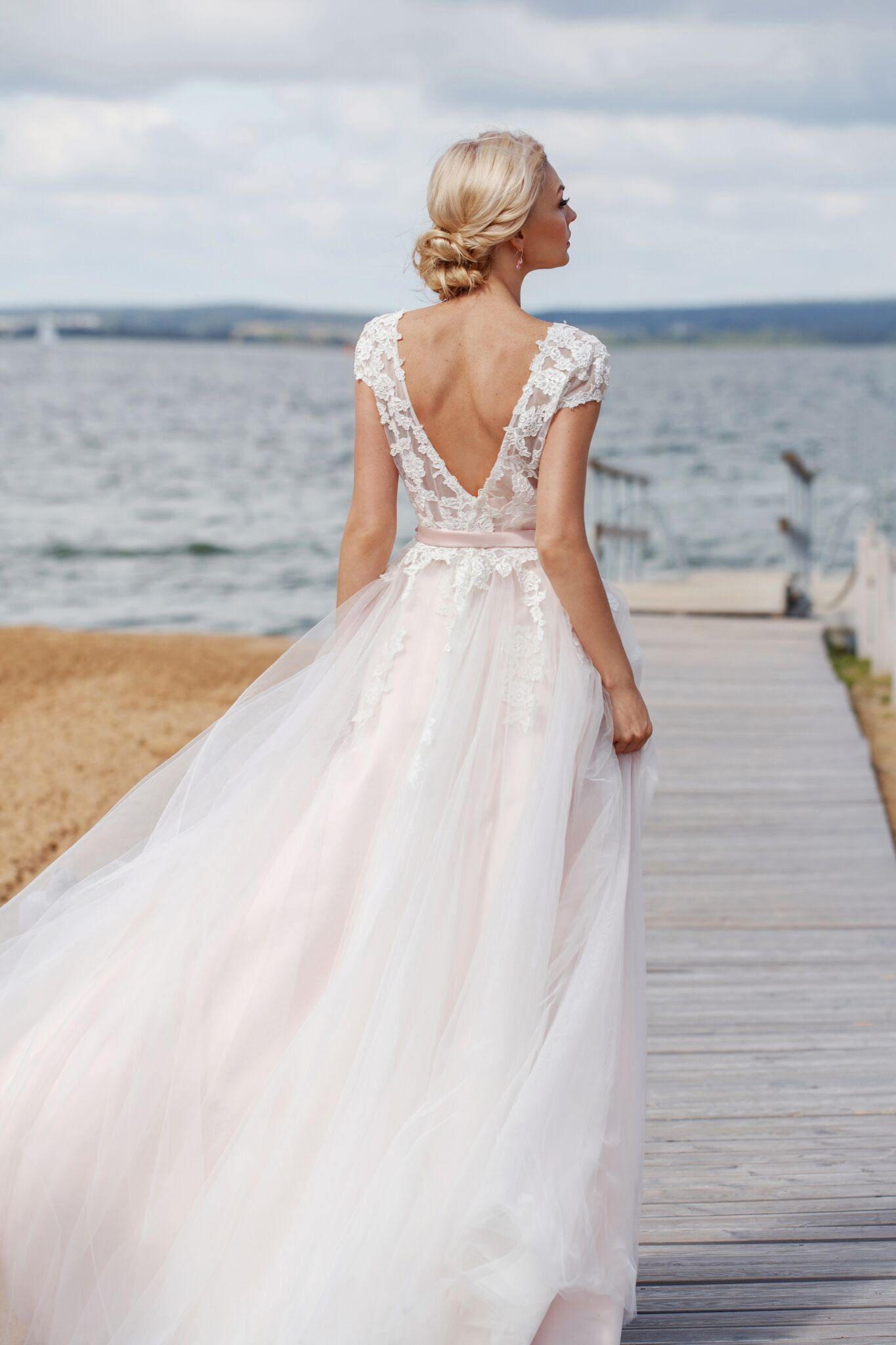 Boho Hochzeit Kleid böhmischen Strand Brautkleid Spitze