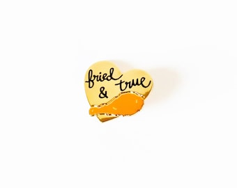 Fried and True - Fried Chicken Love - Lapel Pin - Button