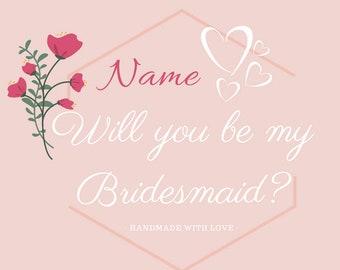 Custom Bridesmaid Candles
