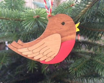 Robin tree decoration