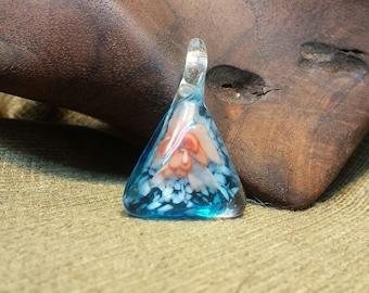 Sale #EarthDay ~ Floating Orange Flower in a Blue Bottle