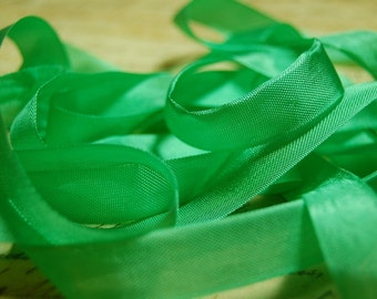 Spring Green Vintage Seam Binding Ribbon 1/2