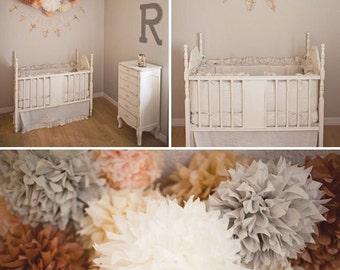 "Pompoms 15 extra large (19""-8"") paper flower,christmas,noel,wedding decoration, paper flower poms, baby shower, engagement party decorations"