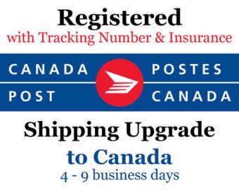 Registered Mail CANADA // Tracked package Canada + Insurance  // Upgraded Shipping with Tracking + Insurance
