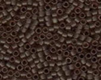 MIYUKI #11 Delica 0772 - Semi Matte Transparent Mink Brown - 5 grams