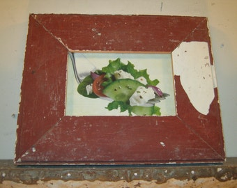 SHABBY ARCHITECTURAL Chic Salvaged Recycled Wood Photo Picture Frame 4x6 S-454