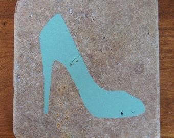 High Heel Shoe Stone Coasters (Set of 4)
