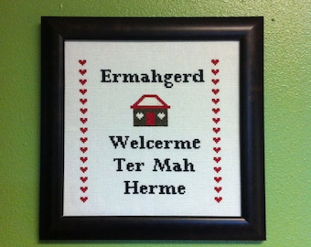 Ermahgerd Cross-stitch Downloadable PDF Pattern