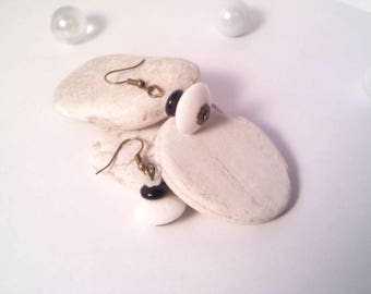 Trio of black and White Pearl Earrings