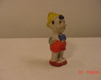 Vintage 1930's Walt Disney Productions Pinocchio Figurine Frozen Charlotte Doll  18 - 890