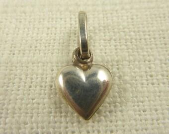 Vintage Italian Sterling Itty Bitty Heart Pendant
